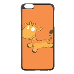 Giraffe Copy Apple iPhone 6 Plus/6S Plus Black Enamel Case