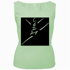 Great Gig Dance Women s Green Tank Top