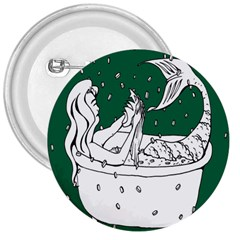Green Mermaid 3  Buttons