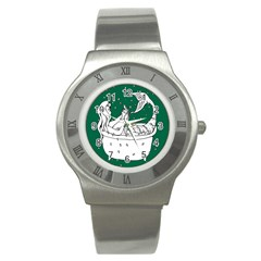 Green Mermaid Stainless Steel Watch