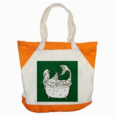 Green Mermaid Accent Tote Bag