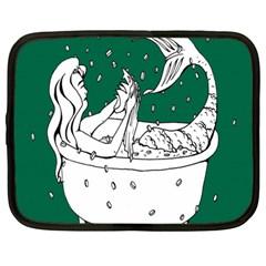 Green Mermaid Netbook Case (Large)
