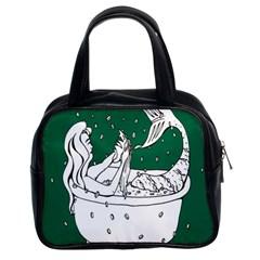 Green Mermaid Classic Handbags (2 Sides)