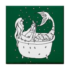 Green Mermaid Face Towel