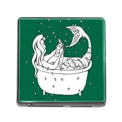 Green Mermaid Memory Card Reader (Square)