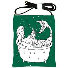 Green Mermaid Shoulder Sling Bags