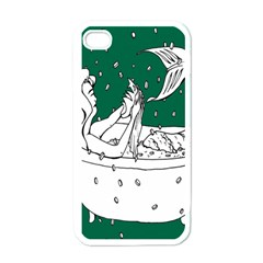Green Mermaid Apple iPhone 4 Case (White)