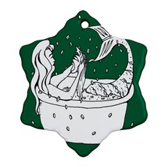 Green Mermaid Ornament (Snowflake)