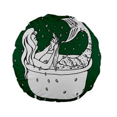 Green Mermaid Standard 15  Premium Round Cushions