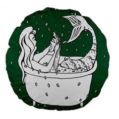 Green Mermaid Large 18  Premium Round Cushions