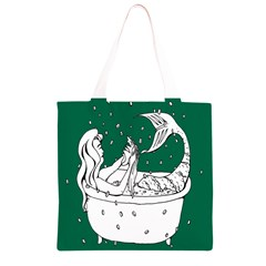 Green Mermaid Grocery Light Tote Bag