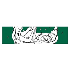 Green Mermaid Satin Scarf (Oblong)