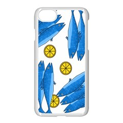 Mackerel Meal 2 Apple Iphone 7 Seamless Case (white)
