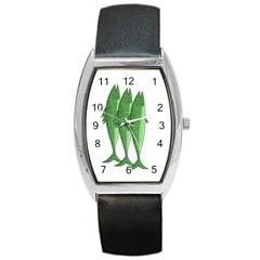 Mackerel - green Barrel Style Metal Watch