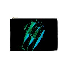 Green fish Cosmetic Bag (Medium)