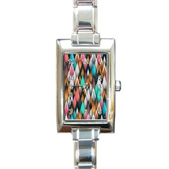 Background Pattern Abstract Triangle Rectangle Italian Charm Watch