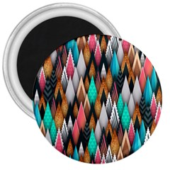 Background Pattern Abstract Triangle 3  Magnets