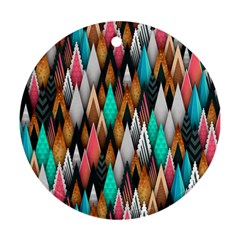 Background Pattern Abstract Triangle Ornament (Round)