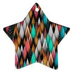 Background Pattern Abstract Triangle Ornament (Star)