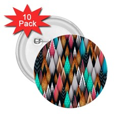 Background Pattern Abstract Triangle 2.25  Buttons (10 pack)