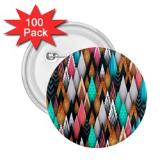 Background Pattern Abstract Triangle 2.25  Buttons (100 pack)