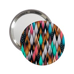 Background Pattern Abstract Triangle 2.25  Handbag Mirrors