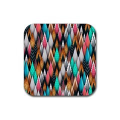 Background Pattern Abstract Triangle Rubber Coaster (Square)