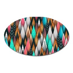 Background Pattern Abstract Triangle Oval Magnet