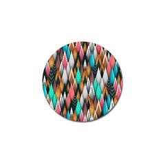 Background Pattern Abstract Triangle Golf Ball Marker (4 pack)