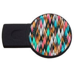 Background Pattern Abstract Triangle USB Flash Drive Round (1 GB)