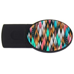 Background Pattern Abstract Triangle USB Flash Drive Oval (2 GB)