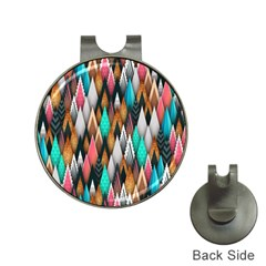 Background Pattern Abstract Triangle Hat Clips with Golf Markers