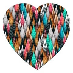Background Pattern Abstract Triangle Jigsaw Puzzle (Heart)