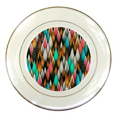 Background Pattern Abstract Triangle Porcelain Plates