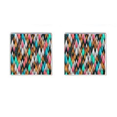 Background Pattern Abstract Triangle Cufflinks (Square)