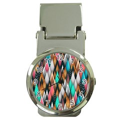 Background Pattern Abstract Triangle Money Clip Watches