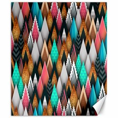 Background Pattern Abstract Triangle Canvas 8  x 10