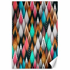 Background Pattern Abstract Triangle Canvas 20  x 30