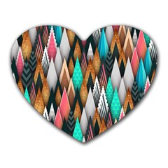Background Pattern Abstract Triangle Heart Mousepads