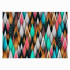 Background Pattern Abstract Triangle Large Glasses Cloth