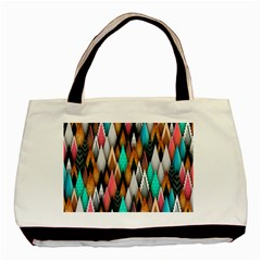 Background Pattern Abstract Triangle Basic Tote Bag (Two Sides)