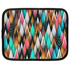 Background Pattern Abstract Triangle Netbook Case (Large)