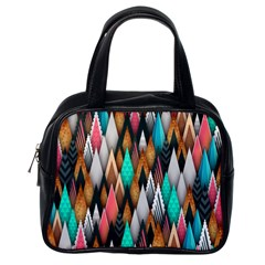 Background Pattern Abstract Triangle Classic Handbags (One Side)