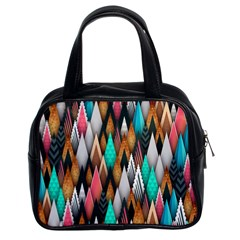 Background Pattern Abstract Triangle Classic Handbags (2 Sides)