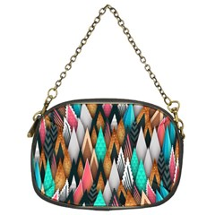 Background Pattern Abstract Triangle Chain Purses (Two Sides)