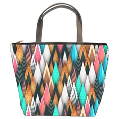 Background Pattern Abstract Triangle Bucket Bags