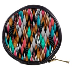 Background Pattern Abstract Triangle Mini Makeup Bags