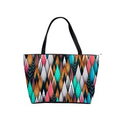 Background Pattern Abstract Triangle Shoulder Handbags