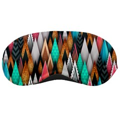 Background Pattern Abstract Triangle Sleeping Masks