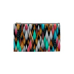 Background Pattern Abstract Triangle Cosmetic Bag (Small)